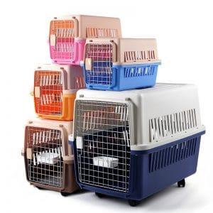 plastic dog crate